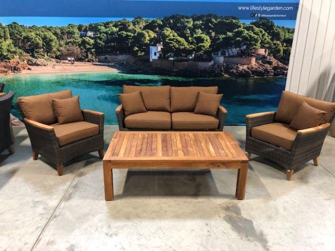 Ensemble sofa extérieur/intérieur 4 pièces Polynésia