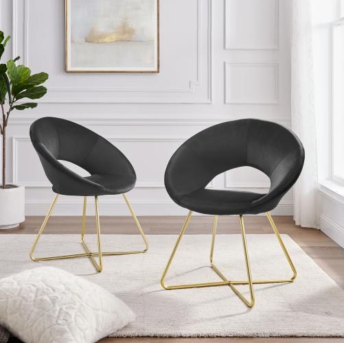 Chaises d'intérieur  (2) velours noir